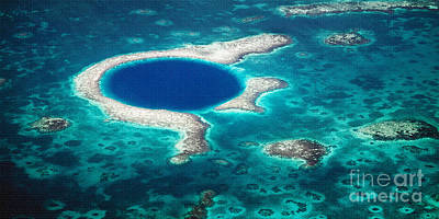 Photograph - The Blue Hole by Lawrence Burry