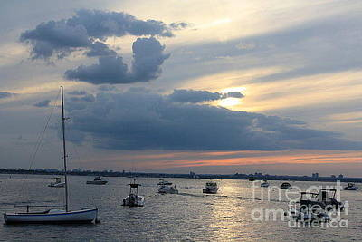 Photograph - The Blue Hour Over The Bay by Dora Sofia Caputo Photographic Design and Fine Art
