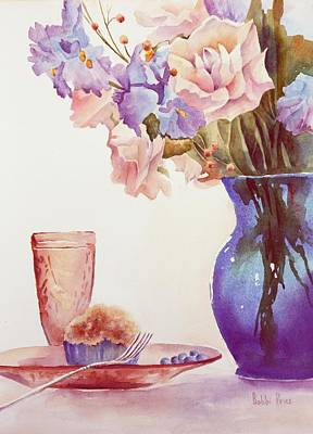 The Blue Vase Art Print by Bobbi Price