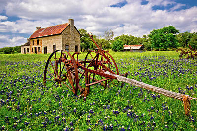 Photograph - The Bluebonnet House by Linda Unger