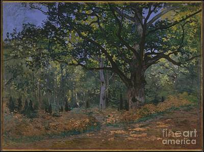 Painting - The Bodmer Oak, Fontainebleau Forest by Celestial Images