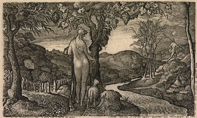 Drawing - The Bride by Edward Calvert