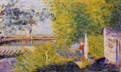 Marine Painting - The Bridge At Bineau by Georges Seurat