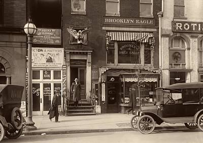 Brooklyn Storefronts Photograph - The Brooklyn Eagle Newspaper Building 1916 by Mountain Dreams