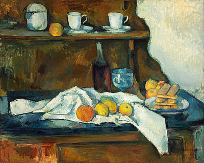 Cup Painting - The Buffet by Paul Cezanne