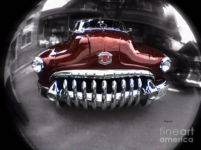 Antique Cars Digital Art - The Buick Eight  by Steven Digman