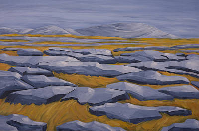 Painting - The Burren by John Farley