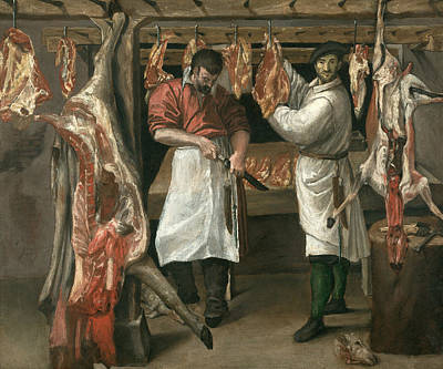 Painting - The Butcher's Shop by Annibale Carracci