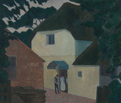 Camden Town Group Painting - The Caller At The Mill by Robert Bevan