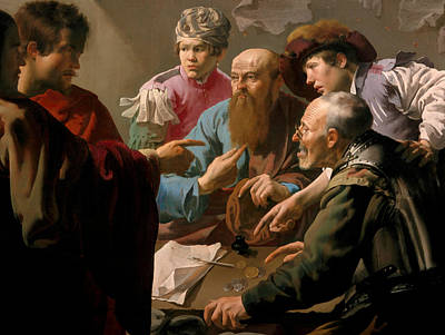 Painting - The Calling Of Saint Matthew by Hendrick ter Brugghen
