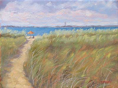 Massachusetts Painting - The Cape by Laura Lee Zanghetti