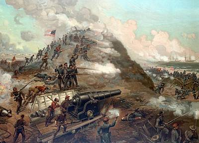 The Capture Of Fort Fisher Art Print by War Is Hell Store