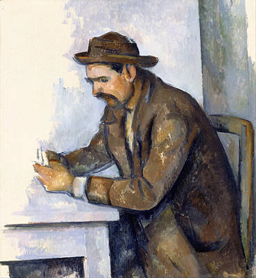 Game Painting - The Cardplayer by Paul Cezanne