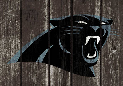 Mixed Media - The Carolina Panthers 2w by Brian Reaves