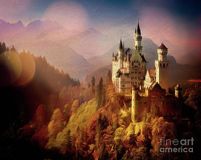 Digital Art - The Castle by Edmund Nagele