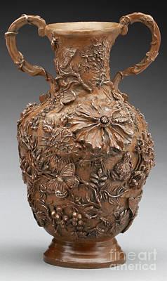 Sculpture - The Cedar Ridge - Bronze Vase by Dawn Senior-Trask