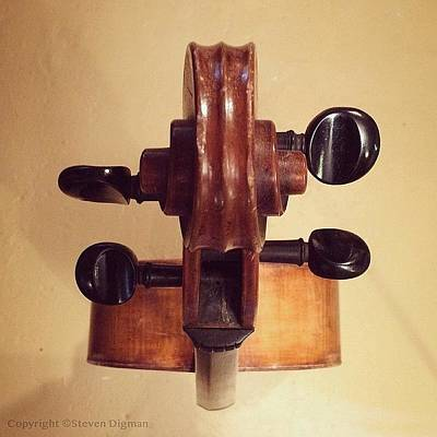 Musical Instruments Wall Art - Photograph - The Cello Box  by Steven Digman