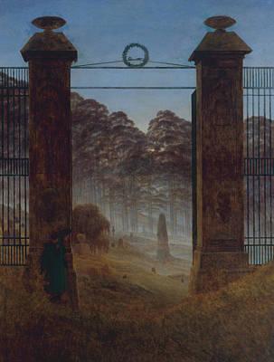 Caspar Painting - The Cemetery by Caspar David Friedrich