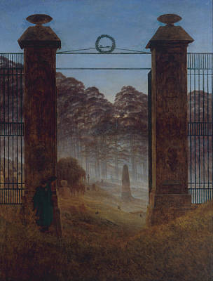 Painting - The Cemetery Entrance by Caspar David Friedrich