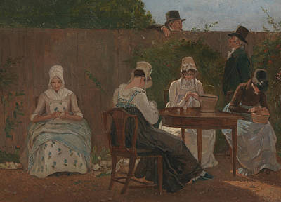 Painting - The Chalon Family In London by Jacques-Laurent Agasse