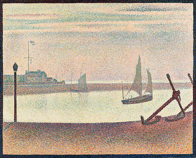 Georges Seurat Painting - The Channel At Gravelines. Evening by Georges Seurat
