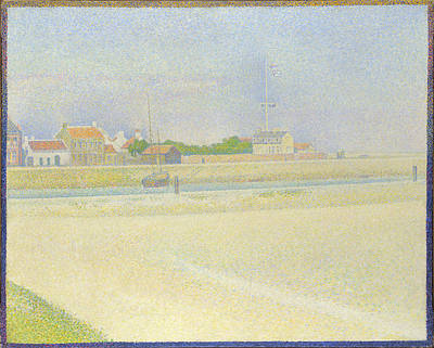 The Channel Of Gravelines Grand Fort Philippe Art Print by Georges Seurat