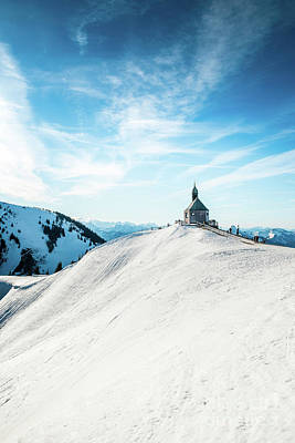 Photograph - The Chapel In The Alps by Hannes Cmarits