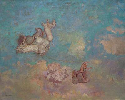 The Chariot Of Apollo Art Print by Odilon Redon