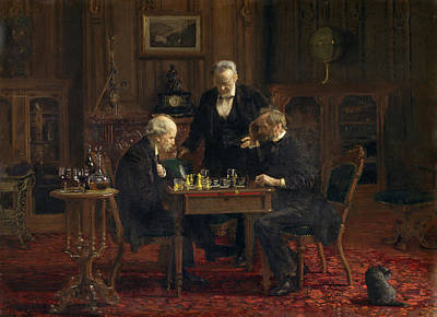 Chess Men Painting - The Chess Players by Mountain Dreams