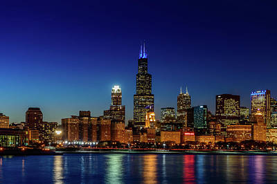 Chicago Photograph - The Chicago Skyline by Med Studio