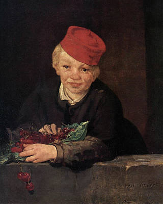 Kid Painting - The Child With Cherries by Edouard Manet
