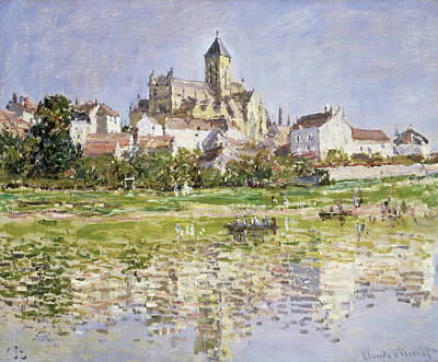 Hill Top Village Painting - The Church At Vetheuil 1880 by Claude Monet
