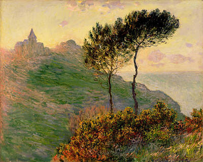 Cliff Painting - The Church Of Varengeville In A Gray Day by Claude Monet