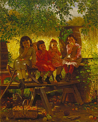 Cider Mill Painting - The Cider Mill by John George Brown