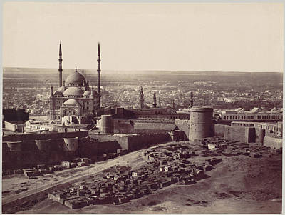 Citadel Painting - The Citadel And The Mosque Of Mohammed Ali by MotionAge Designs