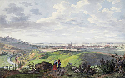 Painting - The City Of Arnberg In The Oberpfalz by Carl Heinzmann