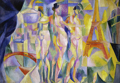 Lyrical Abstractions Painting - The City Of Paris by Robert Delaunay