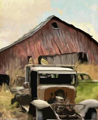 Pastel Barns Painting - The Classic Collection. by Art Two Create LLC