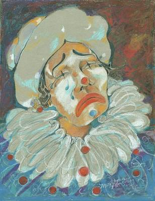 Mixed Media - The Clown by Mary Armstrong