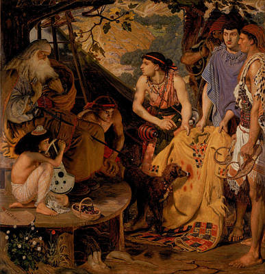 The Coat Of Many Colours Art Print by Ford Madox Brown