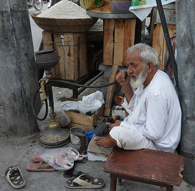 Saba Painting - The Cobbler by Bobby Dar