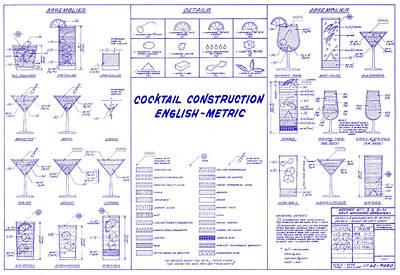 Martini Photograph - The Cocktail Construction Blueprint by Jon Neidert
