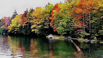 Photograph - The Colors Of Lake Raponda - Wilmington, Vermont by Joseph Hendrix
