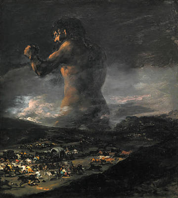 Allegorical Painting - The Colossus by Francisco Goya