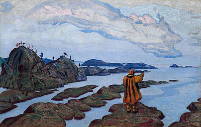 Seashore Painting - The Command by Nicholas Roerich
