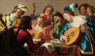 Painting - The Concert by Gerrit van Honthorst