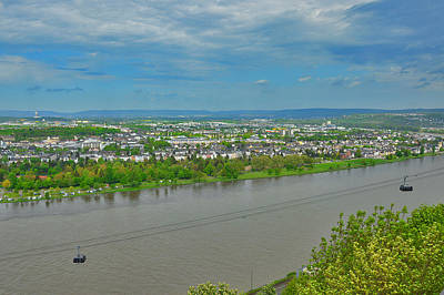 The Confluence Of Two Rivers. Moselle And Rhine. Original