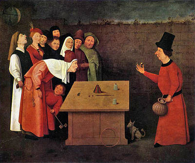 Suggestive Painting - The Conjurer by Hieronymus Bosch