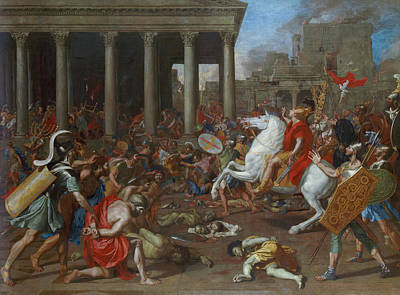 Riding Painting - The Conquest Of Jerusalem By Emperor Titus by Nicolas Poussin