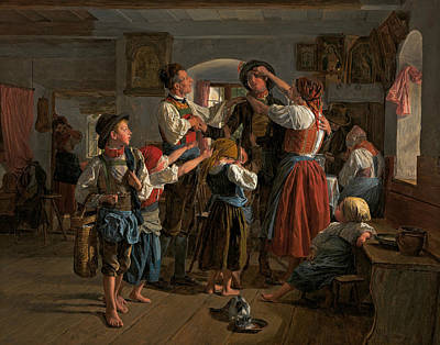 Farewell Painting - The Conscript's Farewell by Ferdinand Georg Waldmuller
